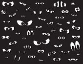 image of eye-wink  - Over fifty different shapes of eyes in the dark - JPG