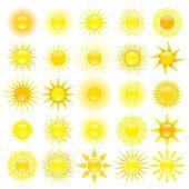 set of sun