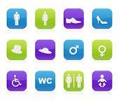 ícones de WC