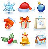 Conjunto de enfeites de Natal
