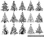 picture of natal  - Set of Luxury Christmas Trees - JPG