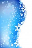 A winter holiday snowflake background.