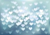 Vector background defocused light in heart shape, no size limit. proportion of A4 format horizontal.