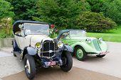 Baden-Baden, Alemanha-13 de julho: CITROEN B12 (1926), a exposição de Internacional de carros antigos