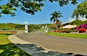 picture of punchbowl  - The National Memorial Cemetary of the Pacifice  - JPG