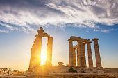 picture of poseidon  - Ruins of Poseidon temple - JPG