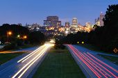Skyline of downtown Columbia, South Carolina from above Jarvis Kaplan Blvd.