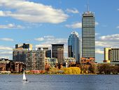Boston, Massachusetts skyline at Back Bay.