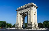 Arch Of Triumph Roundabout, Bucharest, Romania