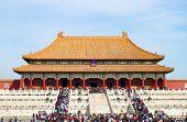 BEIJING, CHINA - OCTOBER 14: People visit the famous Forbidden City on October 14, 2011 in Beijing,