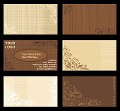Business Cards Templates, Tan And Brown