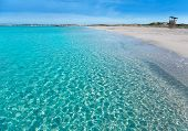 pic of tanga  - Formentera Llevant tanga beach with perfect turquoise water - JPG