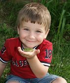 Collin With Frog