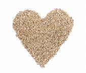 Heart From Hemp Seeds