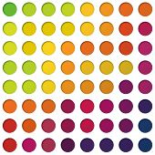 Abstract colorful circles background, vector