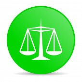 justice green circle web glossy icon