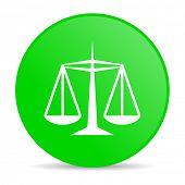 justice green circle web glossy icon
