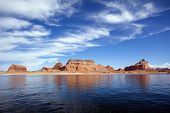 Famous Red Cliffs Of The Lake Powell