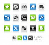FTP & Hosting Icons / The file Includes 4 color versions in different layers.