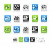 Documents Icons - 1 / The file Includes 4 color versions in different layers.