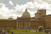 Courtyard Of Vatican Museum