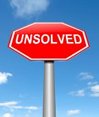 picture of unexplained  - Illustration depicting a sign with an unsolved concept - JPG