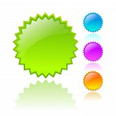 pic of neon green  - Vector stars icons set isolated on white background - JPG