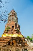 Old Brick Pagoda In Thailand