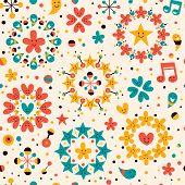 fun cartoon seamless pattern