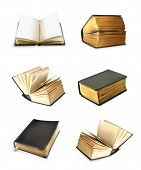 picture of hardcover book  - Book set vector - JPG