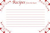 foto of recipe card  - Red recipe card with hearts  - JPG