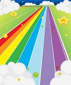 Ilustração de uma estrada colorida