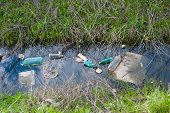 picture of sewage  - Concept or conceptual unhygienic polluted river - JPG