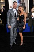 LOS ANGELES - APR 09:  Ryan Merriman & Fiance' arrives to the '42' Hollywood Premiere  on April 09,