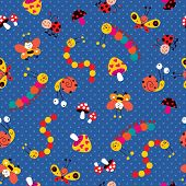 Meadow colorful pattern
