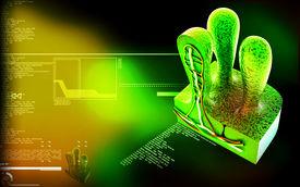 stock photo of mucosa  - Digital illustration of Villus   in colour background - JPG