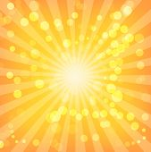 Bokeh Abstract Lights On Sunburst Pattern