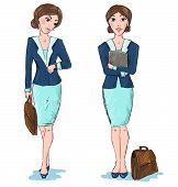 Business woman vector cartoon