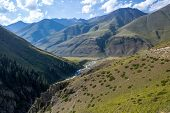 Valley of Chong-Kemin river. Kyrgyzstan