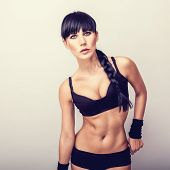 Beautiful healthy fitness woman