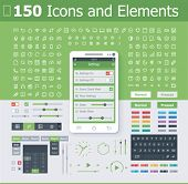 picture of glyphs  - Operating system interface elements - JPG