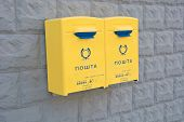 Yellow Letter Post Boxes