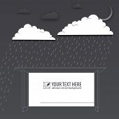 Protection of trouble, rainy day, vector background