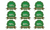 Green-brown Discount Badge
