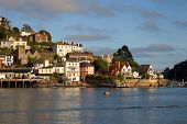 stock photo of dartmouth  - The sun setting over Dartmouth - JPG