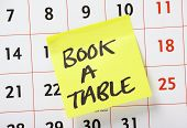 Book A Table Reminder
