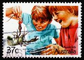 Postage Stamp Australia 1987 Crayfishing, Children