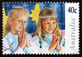 Postage Stamp Australia 1997 Children In Christmas Nativity Page