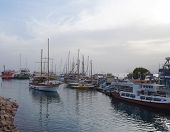 EILAT, ISRAEL - DECEMBER 1 - Yachts stands moored in marina of Eilat