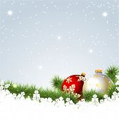 Illustration of a Christmas background.